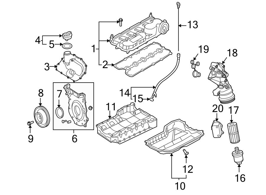 2014 Volkswagen Jetta Engine Oil Filter Adapter  Liter