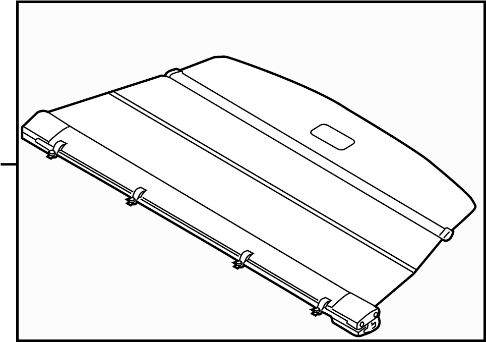 2014 volkswagen touareg cargo cover  rear   strap  black  trim