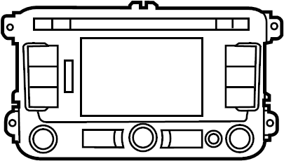 2014 Volkswagen Passat Radio Control Unit W 5 Screen W