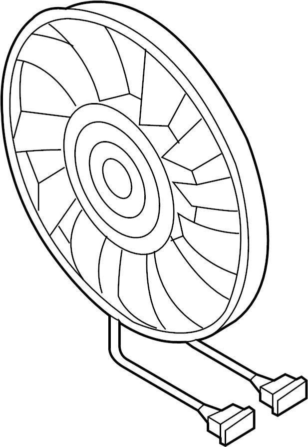 2014 volkswagen jetta cooling fan  electr fan  fan  u0026 motor