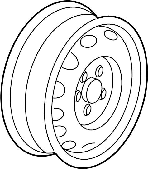 5C0601025AJFZZ - Volkswagen Wheel, alloy. Code, Spoke, SEDAN   Jim Ellis VW, Kennesaw GA